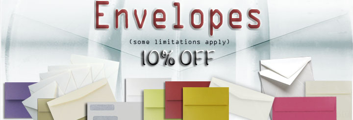 10% off ALL Envelopes