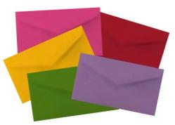 Business Card Envelopes - Color Mix - Professional MINI (2.125-in x 3.625-in) - 500 PK