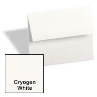 Curious Metallic ENVELOPES - A1 Envelopes - CRYOGEN WHITE - 250 PK