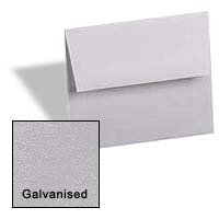 Curious Metallic ENVELOPES - A6 Envelopes - GALVANISED - 50 PK