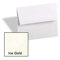 Curious Metallic ENVELOPES - A1 Envelopes - ICE GOLD - 25 PK