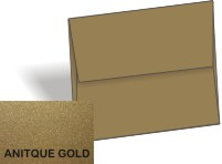 Stardream Metallic - A8 Envelopes (5.5-x-8.125) - ANTIQUE GOLD - 250 PK