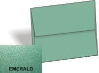 Stardream Metallic - A8 ENVELOPES - EMERALD - 20 PK