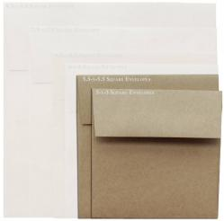 Brown Bag Envelopes - KRAFT - 5.5 in Square Envelopes - 200 PK
