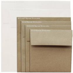 Brown Bag Envelopes - KRAFT - 6.5 in Square Envelopes - 200 PK