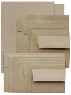 Brown Bag Paper and Envelopes - KRAFT - --SAMPLER PACK--