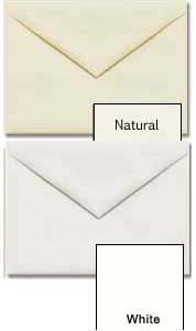 Cougar Opaque 5 1/2 Bar / A2 (4 3/8 x 5 3/4) White -or- Natural Envelopes - 250 PK