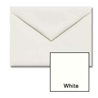 Cougar Opaque - WHITE - 5 1/2 Bar Envelopes (4 3/8 x 5 3/4) - 250 PK