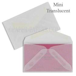 MINI Envelopes - 1000 PK - Professional MINI (2.125-in x 3.625-in) - 29# Clear Translucent