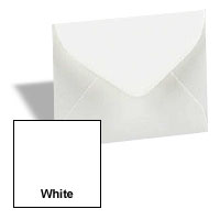 MINI Envelopes - 1000 PK - #17 MINI (2.6875-in x 3.6875-in) - 28/70# Tiara White