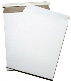 Cardboard Envelopes - WHITE Paperboard Mailers (6-x-6) - 100 PK