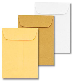 7 COIN Envelopes - 24lb WHITE WOVE - (3.5 x 6.5) - 5000 box
