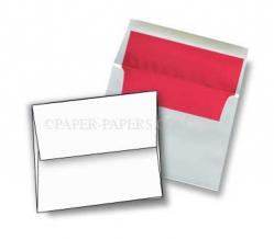 A2 FOIL LINED Envelopes - White (60T) Envelopes with RED Foil Lining - 1000 PK