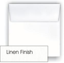 Classic Linen Solar White - 5.5 in (5.5X5.5) Square Envelopes (80T/Linen) - 25 PK