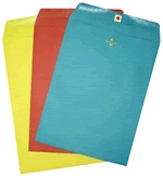 Colorful Catalog Envelopes - Open End - Clasp Fastener (10 x 13) - 500 PK
