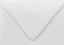 PS Shimmer Metallic - Euro Flap - A1 ENVELOPES - SILVER - 200 PK