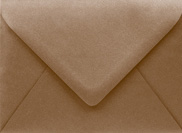 PS Shimmer Metallic - Euro Flap - A7 ENVELOPES - BRONZE - 200 PK