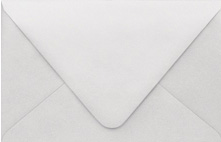 PS Shimmer Metallic - Euro Flap - A9 ENVELOPES - SILVER - 200 PK
