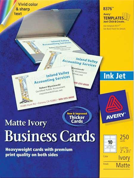 avery174 8376 ivory matte business cards inkjet 250 ebay