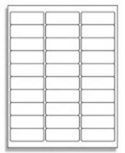 30 UP Address Labels - Avery� 5160 Compatible - 25 Sheets / 30 Labels per Sheet