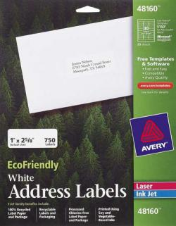 Avery� 48160 - 30 UP EcoFriendly Address Labels - Pack of 750