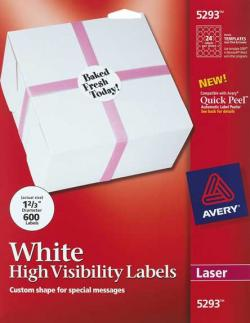 [Clearance] Avery� 5293 - 24 UP Round Labels - Pack of 600