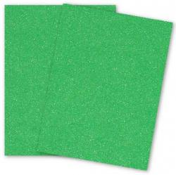 Malmero Perle SPARKLES - Emeraude (Green) - 8.5 x 11 Card Stock Paper - 92lb Cover - 25 PK