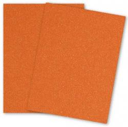 Malmero Perle SPARKLES - Orange - 8.5 x 11 Card Stock Paper - 92lb Cover - 25 PK