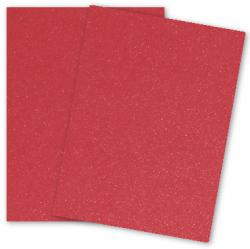 Malmero Perle SPARKLES - Vermillion (Red) - 8.5 x 11 Card Stock Paper - 92lb Cover - 25 PK