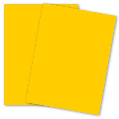 Mohawk BriteHue - GOLD - 8.5 x 11 Card Stock Paper - 65lb Cover - 250 PK