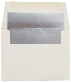 A2 FOIL LINED Envelopes - Soft White 80T Envelopes with Silver Foil Lining - 1000 PK