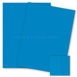 Mohawk VIA Linen - CYAN - 8.5 x 11 Card Stock - 80lb Cover - 25 PK