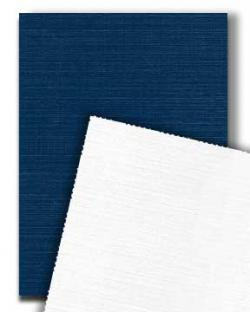 Neenah CLASSIC LINEN 12 x 18 Duplex - White/Blue - 120lb Cover - 250 PK