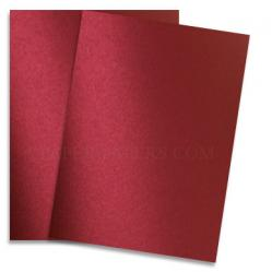 Shine RED SATIN - Shimmer Metallic Paper - 28x40 - 80lb Text (118gsm)