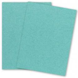Stardream Metallic - 8.5X11 Card Stock Paper - LAGOON - 105lb Cover (284gsm) - 25 PK