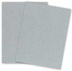 Stardream Metallic - 8.5X11 Card Stock Paper - SILVER - 105lb Cover (284gsm) - 25 PK