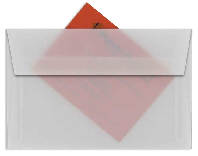 White Translucent (Vellum) - A1 ENVELOPES - 50 PK