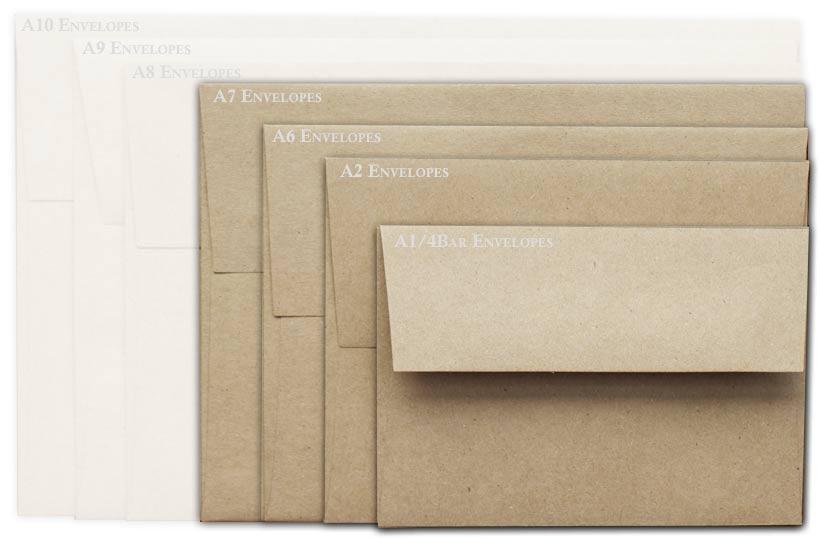 Brown Bag Envelopes - KRAFT - A7 Envelopes - 200 PK