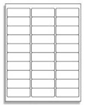 30 Up Address Labels 5160 Compatible 30 Labels Per