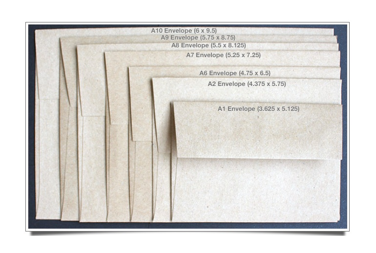 Announcement Size Envelopes - VISUAL GUIDE - Paper-Papers Blog
